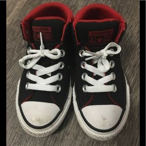 Converse All-Stars Red and Black Low top Shoes